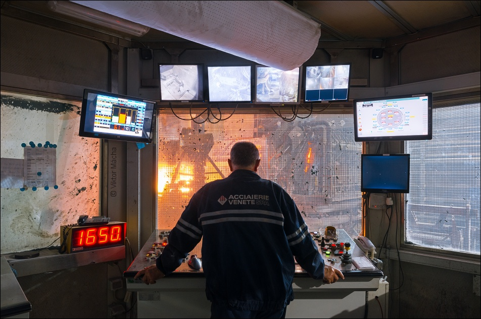 Acciaierie Venete, electric arc furnace control room