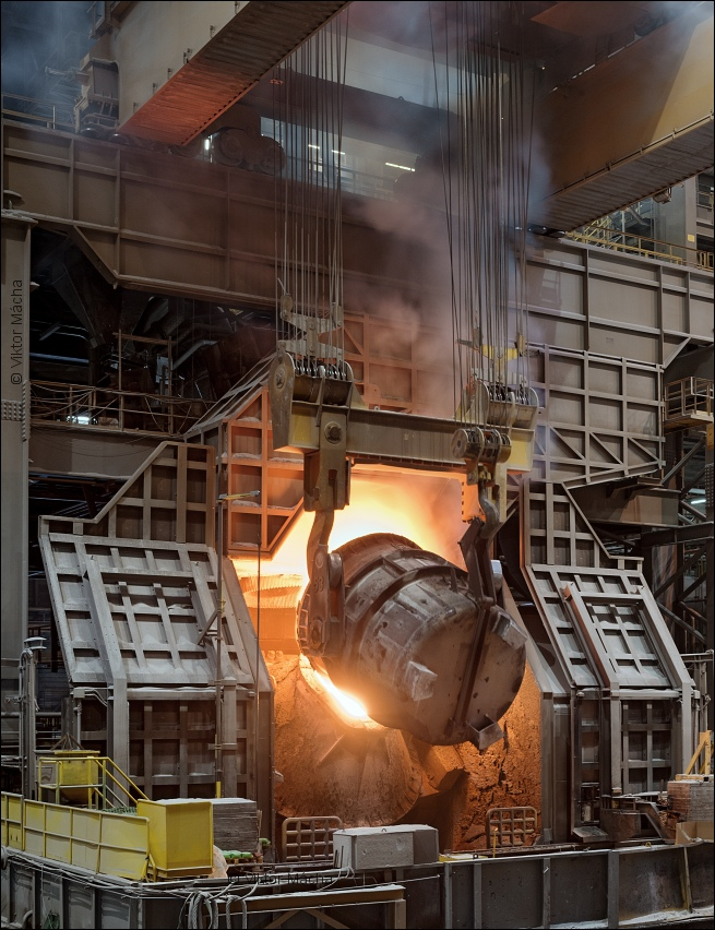 Aperam Châtelet, charging the converter