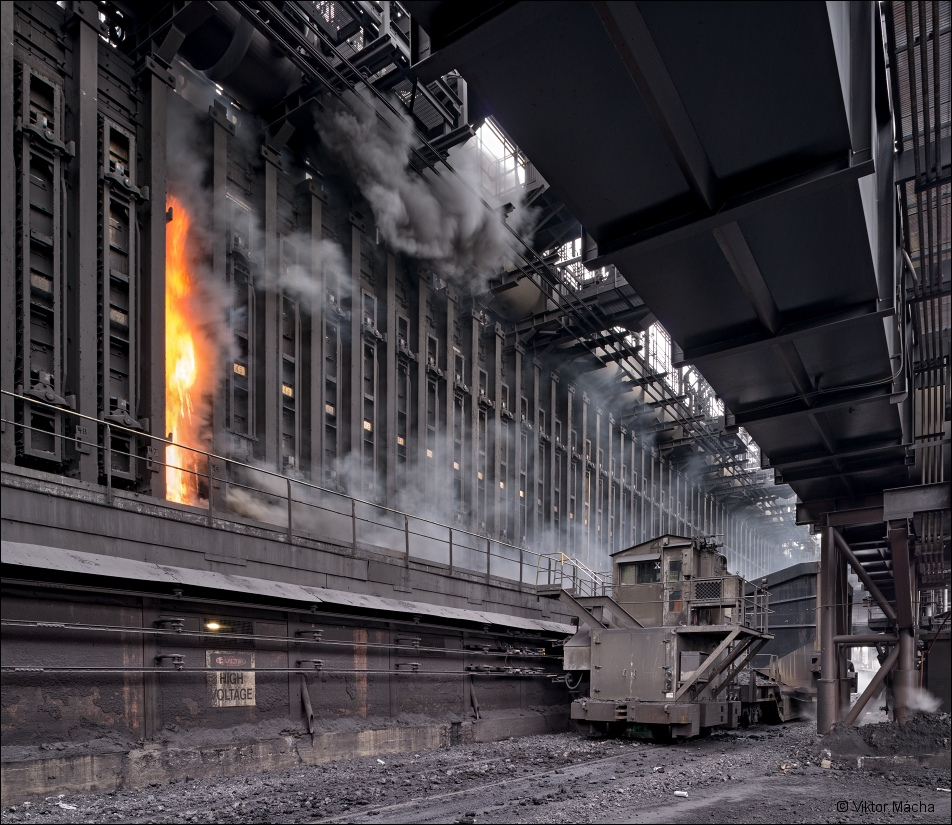 ArcelorMittal Burns Harbor, coke battery pushing side