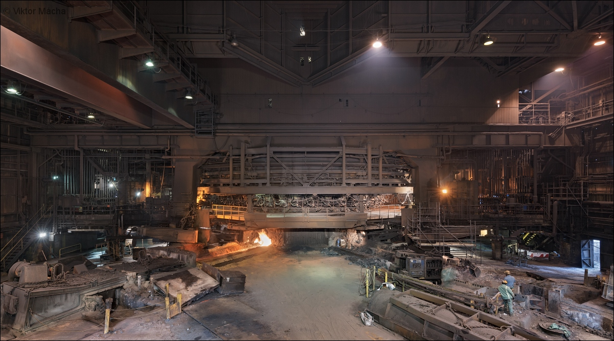 ArcelorMittal Indiana Harbor, blast furnace no.7 casting house