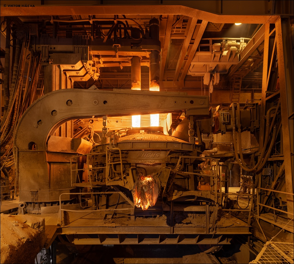 Björneborg Steel, 50 t electric arc furnace