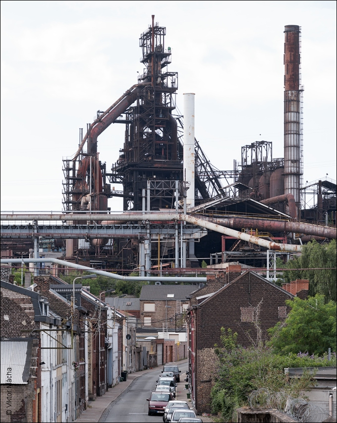 Cockerill Sambre Seraing, blast furnace no.6 above Rue Ramoux