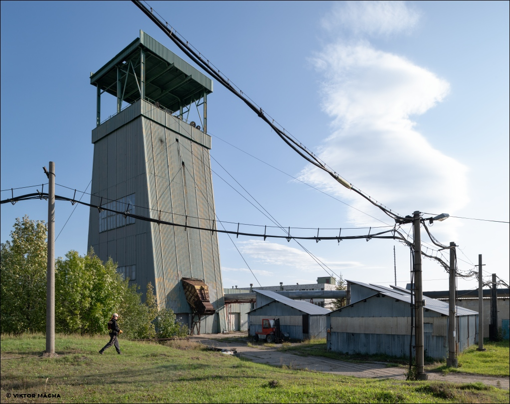 Frenštát mine, winding tower