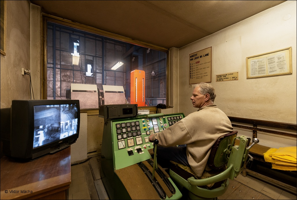 důl Rako, winding engine operator