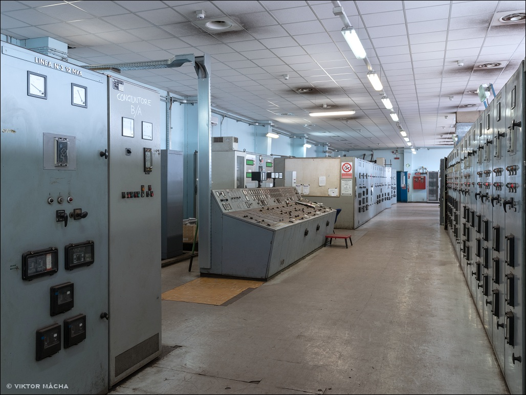 Ferriera di Servola, power plant control room