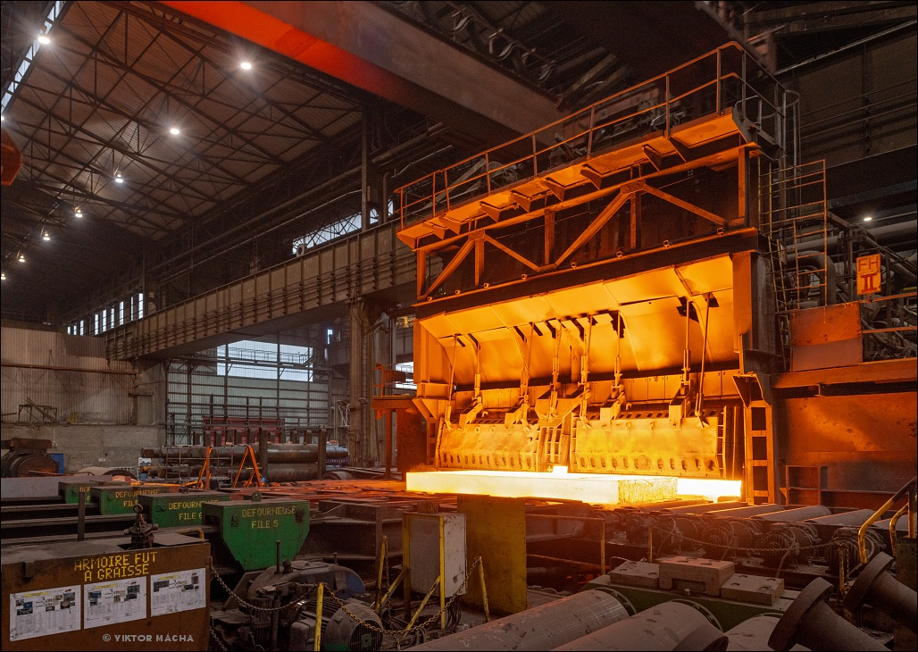 Industeel Charleroi, pushing furnace