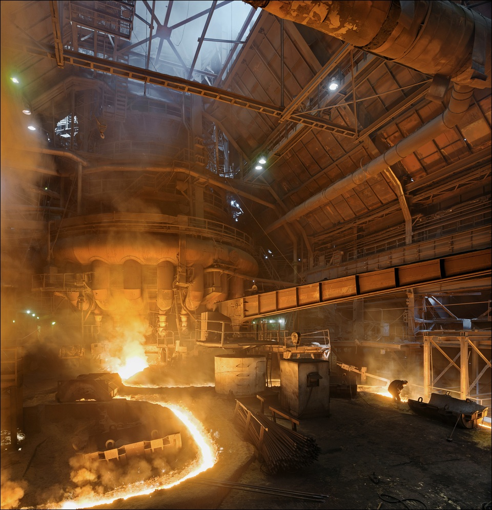 MMK Magnitogorsk, blast furnace no.10 tapping