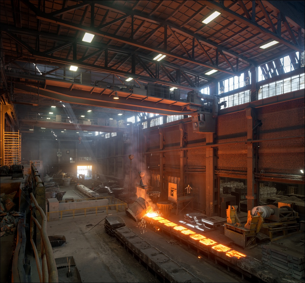 OFZ Istebne, casting bay at the ferroalloys smelter