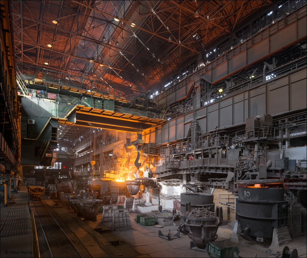 OMK Vyksa Steel, open hearth steel making shop