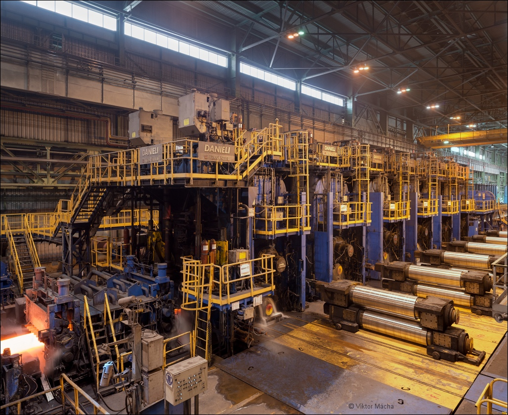 OMK Vyksa Steel, finishing stands at the hot strip mill
