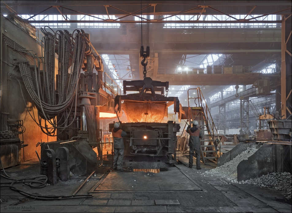 SCB Foundry, charging the electric arc furnace