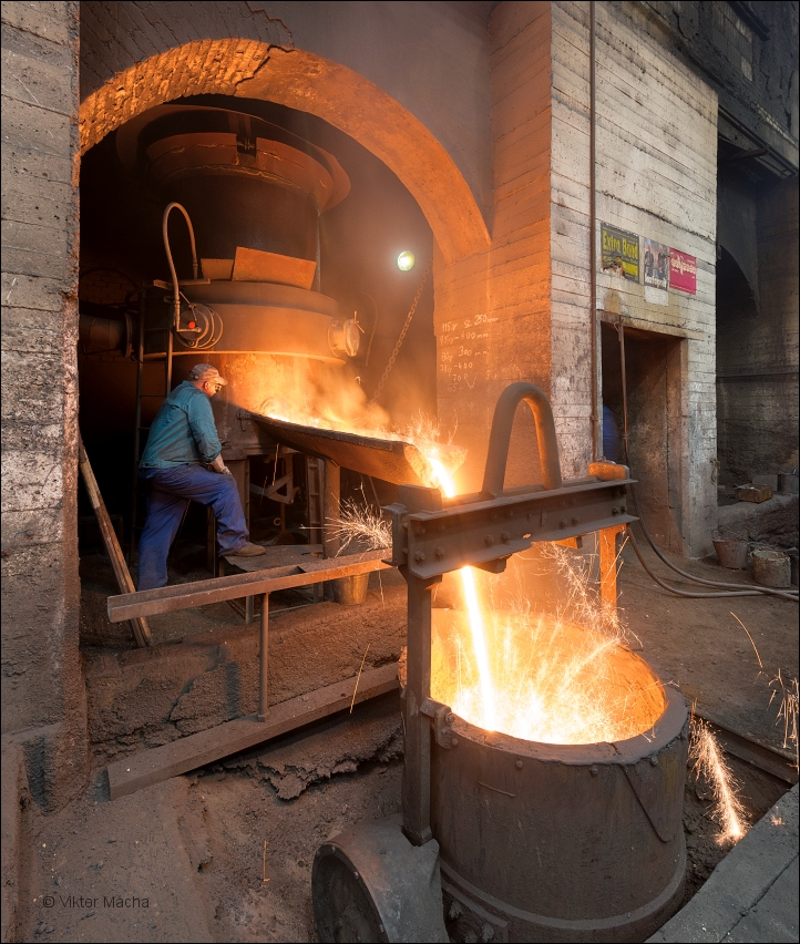 Buzuluk Komarov, work at the cupola furnace