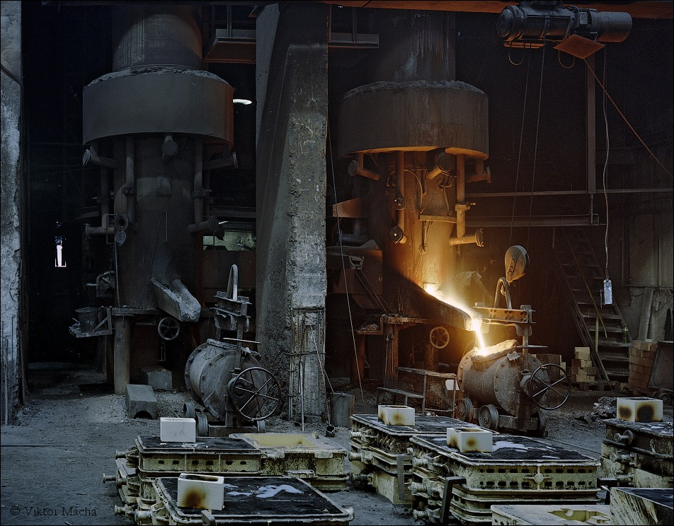 Nové Ransko foundry, tapping the cupola furnace