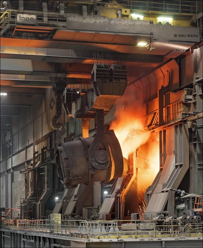 Tata Steel Ijmuiden  Charging The Basic Oxygen Furnace