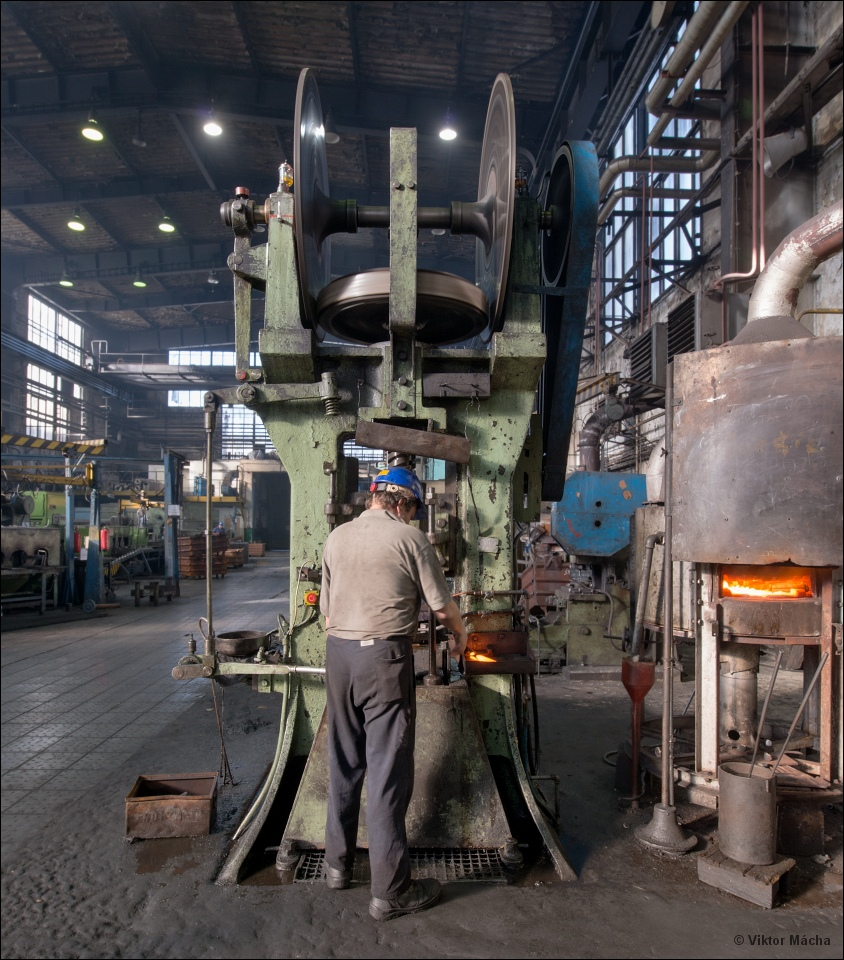Tatra Kopřivnice, by the forging press