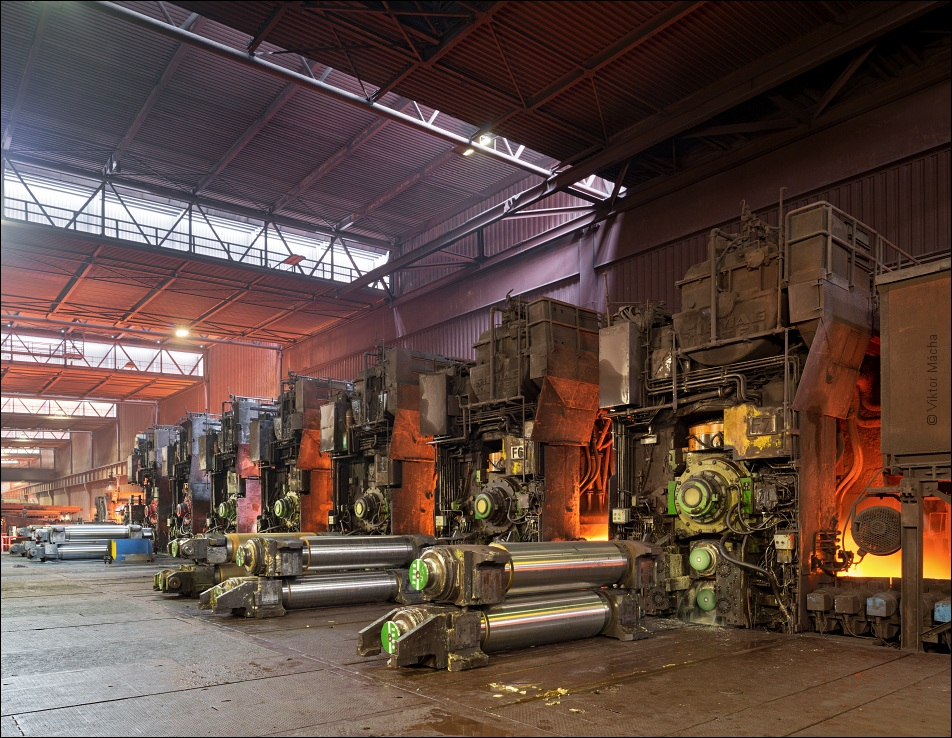 ThyssenKrupp Bruckhausen, finishing stands at the hot strip mill