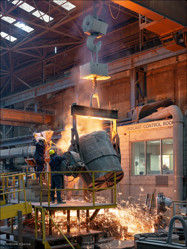 Union Electric Steel, centrifugal casting