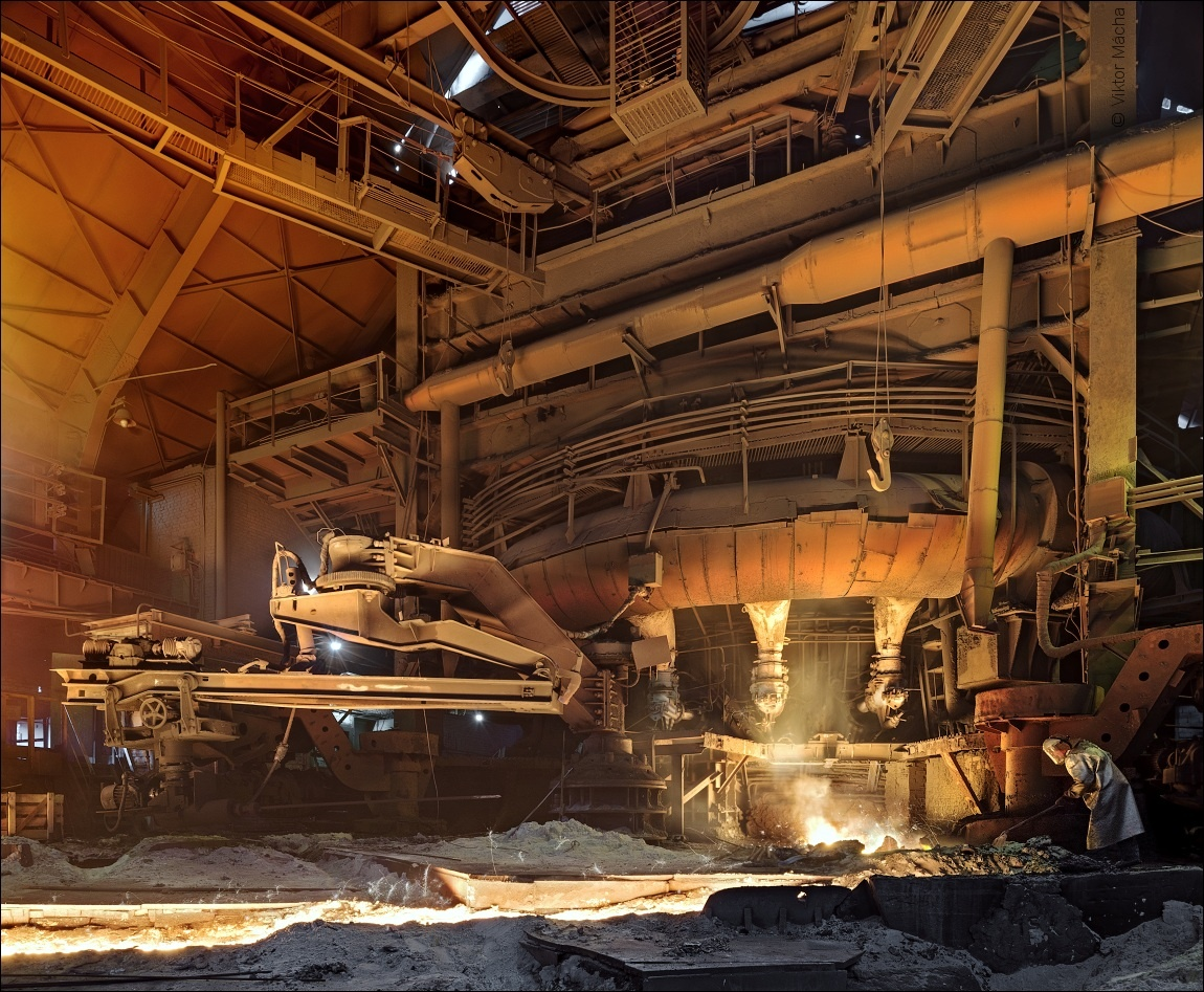 Ural Steel, tapping the blast furnace no.1