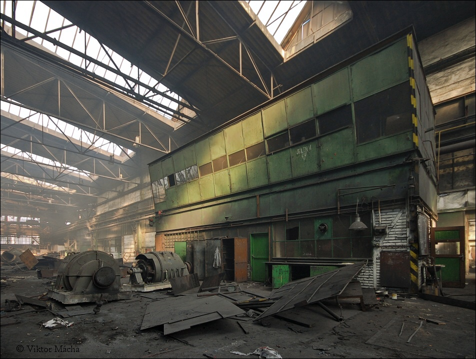 Noval rolling mill, control room