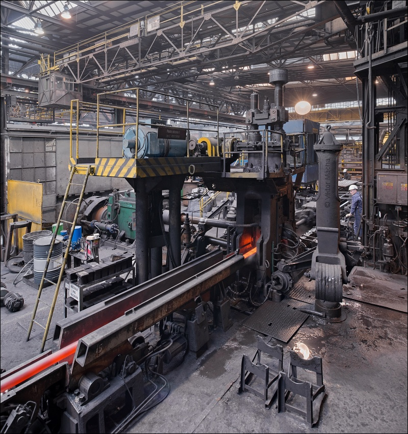 Vitkovice tube rolling mill, small manessmann pilger mill