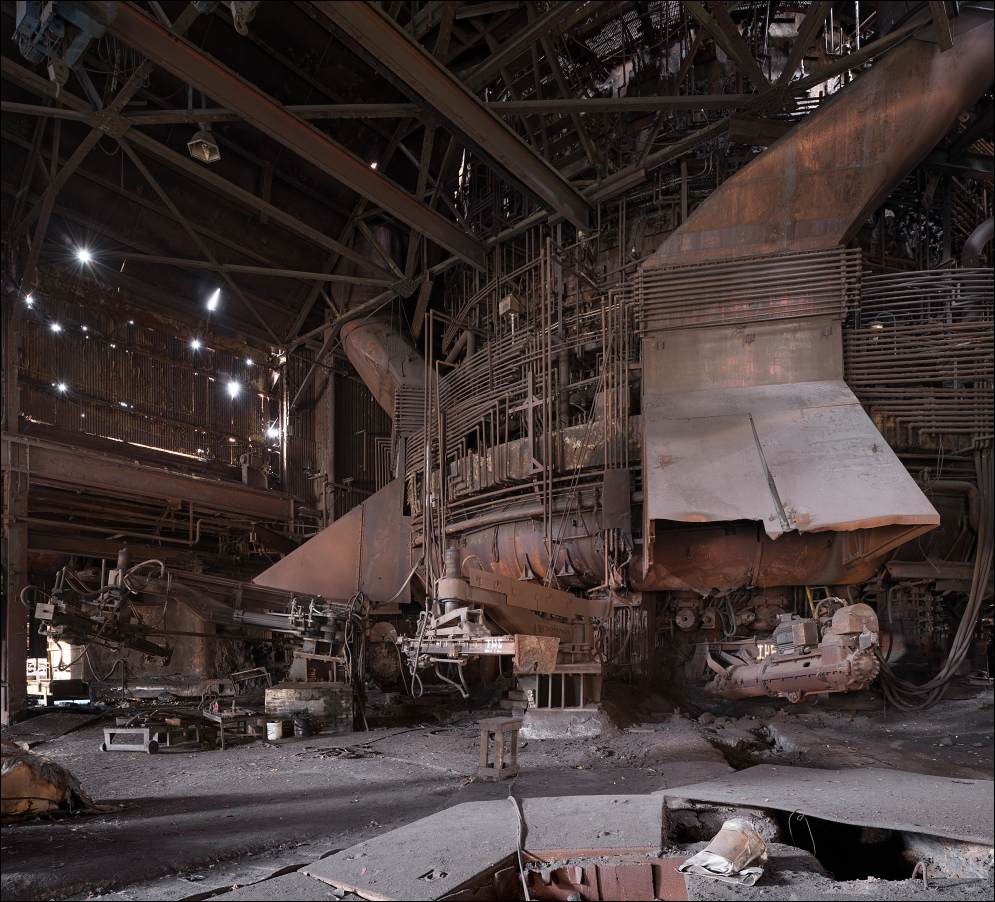 Weirton Steel, blast furnace no.1 casthouse