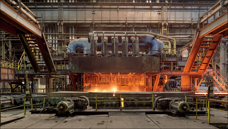 MMK im Ilyicha, heating furnace at the heavy plate rolling mill