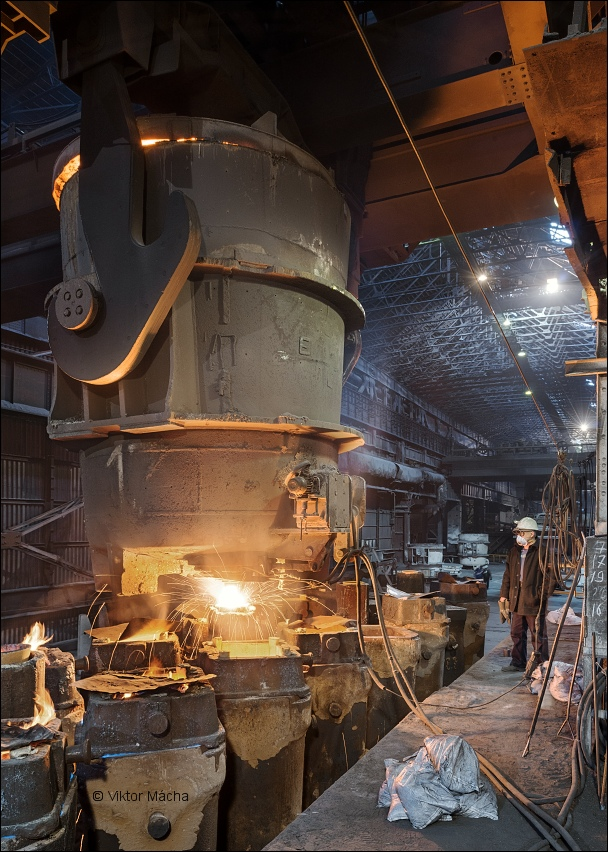 Serov metalurgical plant, ingots teeming