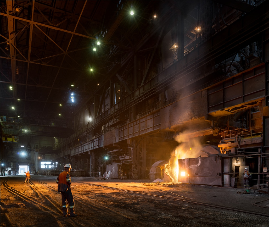 Željezara Zenica, in the steel mill