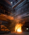 ArcelorMittal Ruhrort, tapping the 140 t...
