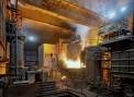 Huta Batory, charging the arc furnace