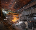 OMK Vyksa Steel, open hearth steel making...