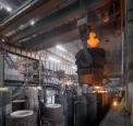 OMK Vyksa Steel, ingots teeming at the open...