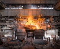 OMK Vyksa Steel, tapping the siemens-martin...