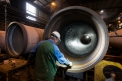Saint-Gobain Pont-a-Mousson, pipe grinding...