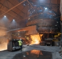 SSAB Oxelösund, tapping the blast furnace...