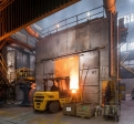 Teksid Poland, tapping the induction furnace