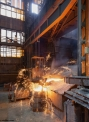 Unex Olomouc, tapping the induction furnace