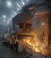 Uraltrak, tapping the arc furnace