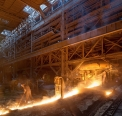 Serov metallurgical plant, work at the blast...